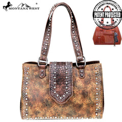 MW699G-8564 Montana West Safari Collection Concealed Carry Tote