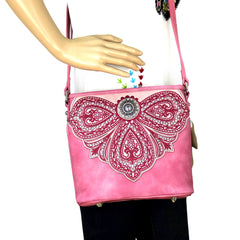MW700-8360 Montana West Embroidered Collection Crossbody Bag