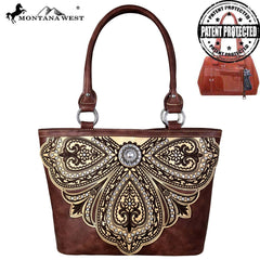 MW700G-8317 Montana West Embroidered Collection Concealed Carry Tote