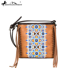 MW705-8360 Montana West Embroidered Collection Crossbody