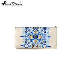 MW705-C018 Montana West Embroidered Collection Wallet/Crossbody