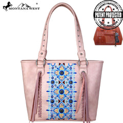 MW705G-8317 Montana West Embroidered Collection Concealed Carry Tote