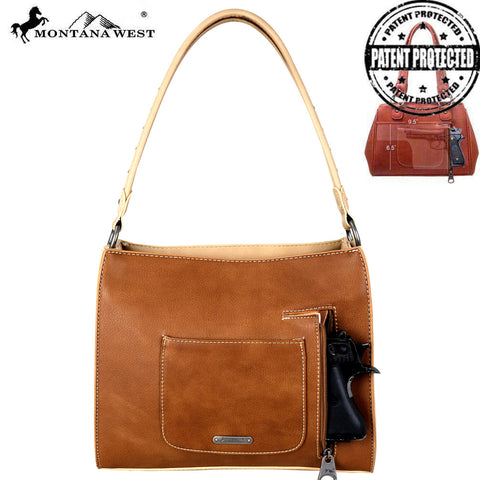 MW707G-8250 Montana West Fringe Collection Concealed Handgun Trapezoid Tote