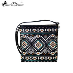MW709-8360 Montana West Aztec Collection Crossbody Bag