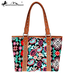 MW714-8317 Montana West Embroidered Collection Tote
