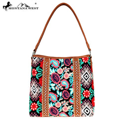 MW714-918 Montana West Embroidered Collection Hobo