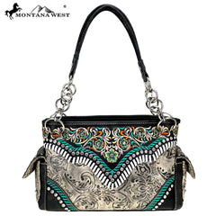 MW726-8085 Montana West Embroidered Collection Satchel