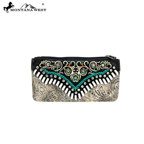 MW726-W021 Montana West Western Embroidered Collection Wallet