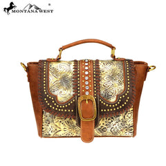 MW728-8262 Montana West Buckle Collection Satchel/Crossbody