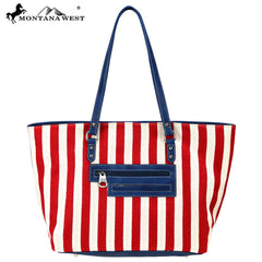 MW730-8484 Montana West American Pride Collection Wide Tote