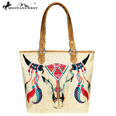 MW737-9318 Montana West Native American Collection Canvas Tote Bag