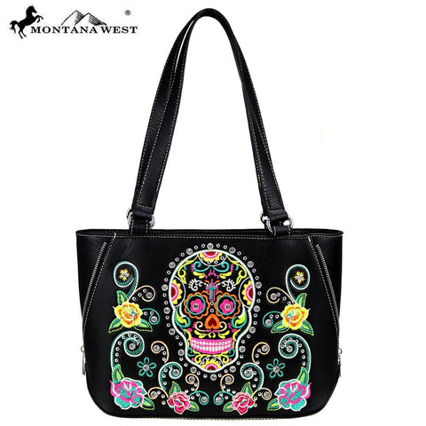 MW741-8574 Montana West Sugar Skull Collection Tote