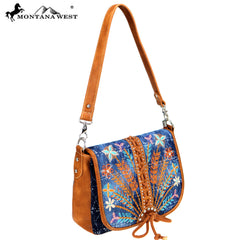 MW743-8360 Montana West Concho Collection Hobo/Crossbody
