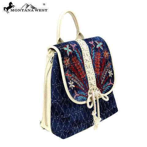 MW743-9110 Montana West Embroidered Collection Backpack