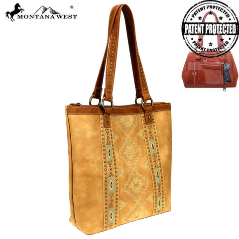 MW744G-8113 Montana West Aztec Collection Concealed Carry Tote