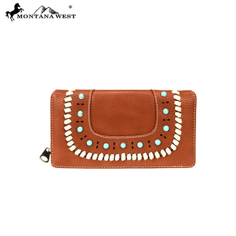 MW746-W010 Montana West Western Collection Secretary Style Wallet