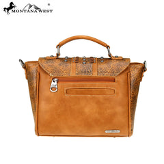 MW747-8262 Montana West Concho Collection Satchel/Crossbody