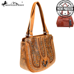 MW747G-8317 Montana West Concho Collection Concealed Carry Tote