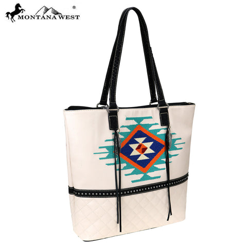 MW748-8113 Montana West Embroidered Collection Tote
