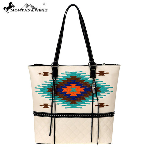 MW750-8113 Montana West Embroidered Collection Tote