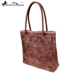 MW753-8014 Montana West Embossed Collection Tote