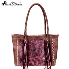 MW753-8317 Montana West Embossed Collection Tote