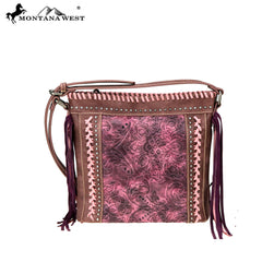 MW753-8360 Montana West Embossed Collection Crossbody