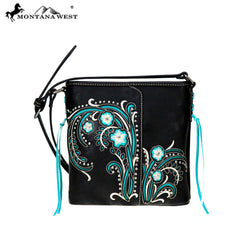 MW758-8360 Montana West Embroidered Collection Crossbody