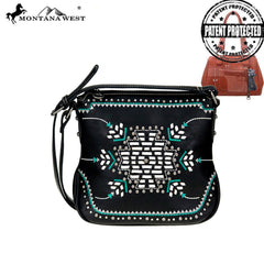 MW759G-8395 Montana West Aztec Collection Concealed Carry Crossbody Bag