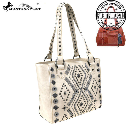 MW767G-8317 Montana West Aztec Collection Concealed Carry Tote