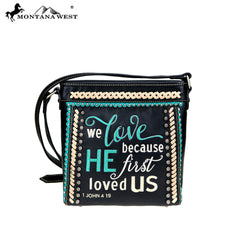 MW768-8360 Montana West Scripture Bible Verse Collection Crossbody