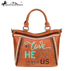MW768-8461 Montana West Scripture Bible Verse Collection Tote/Crossbody