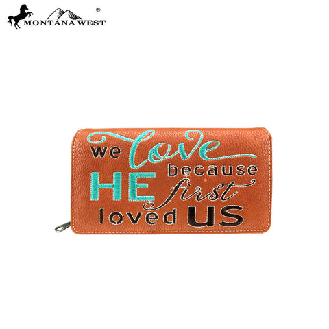 MW768-W010 Montana West Scripture Bible Verse Collection Wallet