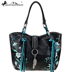 MW769-8578 Montana West Embroidered Collection Tote