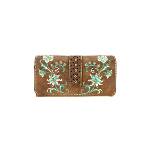 MW769-W018  Montana West Embroidered Collection Wallet/Wristlet