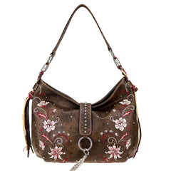MW769G-8318 Montana West Embroidered Collection Concealed Carry Hobo
