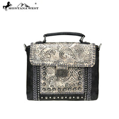 MW773-8262 Montana West Embossed Collection Satchel/Crossbody
