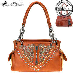 MW775G-8085 Montana West Embroidered Collection Concealed Carry Satchel