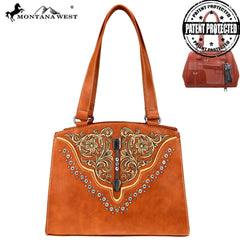 MW775G-8319 Montana West Embroidered Collection Concealed Carry Tote