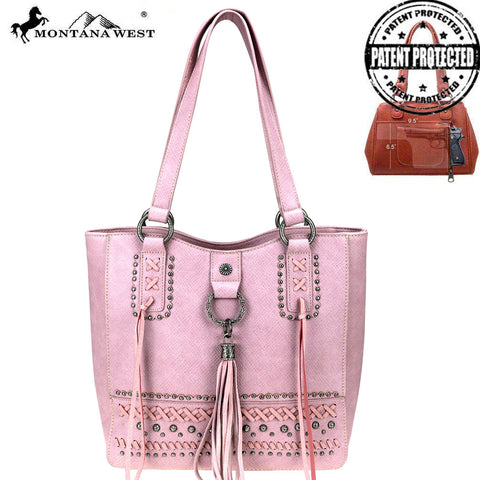 MW777G-8577 Montana West Fringe Collection Concealed Carry Tote