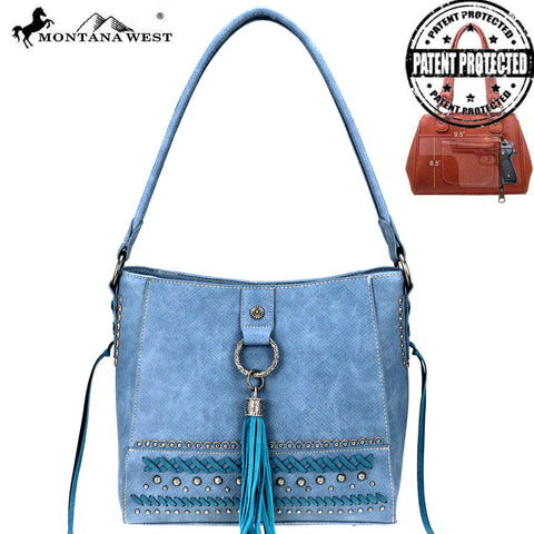 MW777G-916 Montana West Fringe Collection Concealed Carry Hobo
