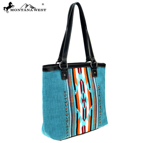 MW779-8281 Montana West Aztec Collection Tote