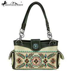 MW780-8085 Montana West Embroidered Collection Satchel