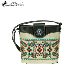 MW780-8360 Montana West Embroidered Collection Crossbody