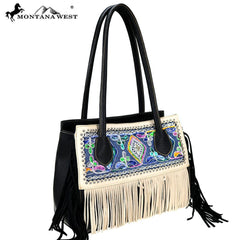 MW781-8590 Montana West Fringe Collection Tote