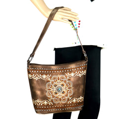 MW782-816 Montana West Embroidered Collection Hobo