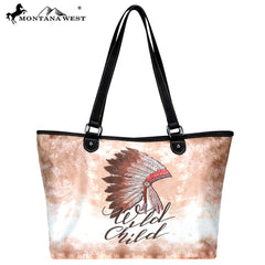 MW787-8581 Montana West Native American Collection Wide Tote