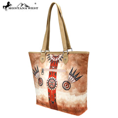 MW788-9318 Montana West Aztec Collection Tote Bag