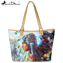 MW789-8581 Montana West Native American Collection Wide Tote