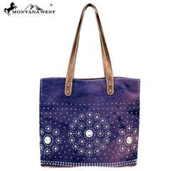MW791-9317 Montana West Concho Collection Tote